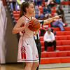 Ali Berry prepares to inbound the ball