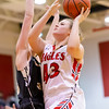 Breanna Dofflemyer goes in for a layup