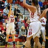 Erin Clayton takes a three point attempt