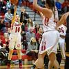 Erin Clayton takes a three point attempt