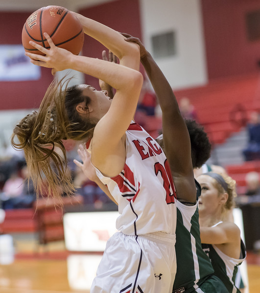 Nicole Jefferson powers her way up for a shot under the basket