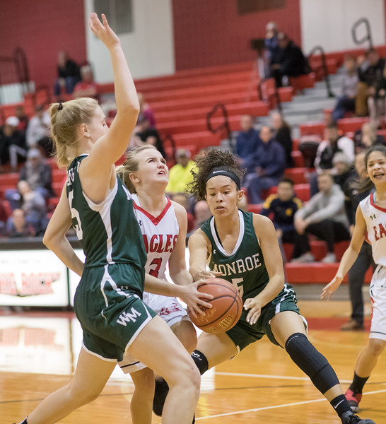 Madison Voight goes down the lane for a layup