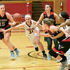 Allie Coburn  tries to get to a loose ball