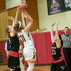 Allie Coburn goes up for a shot under the basket