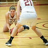 Claire Mocarski dives on a loose ball