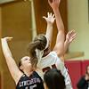 Allie Coburn takes a shot against Molly Shephard