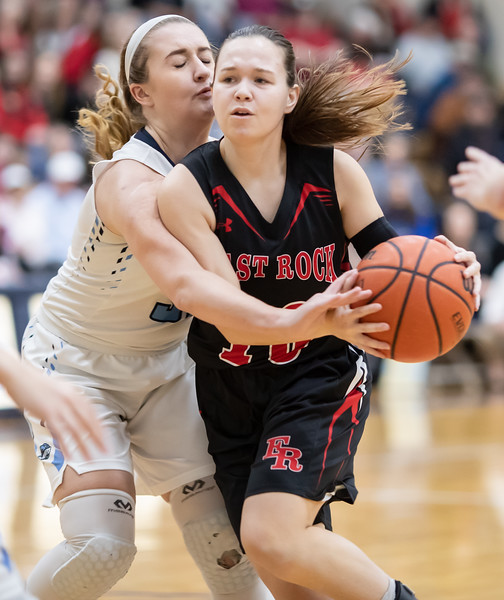 Erin Clayton tries to get to the basket