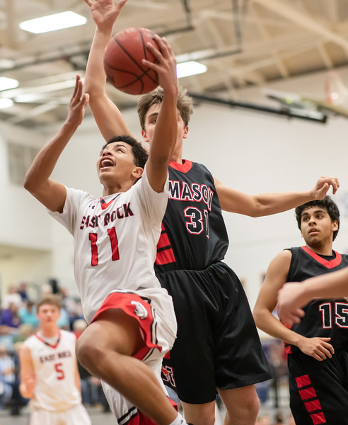 Tyce McNair goes up for a layup