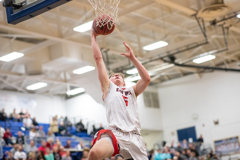 Tyler Nickel goes in for a layup