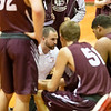 Luray's Coach Mat Huff calls a time out and tries to rally his team after the Eagles quickly jump out to a commanding lead