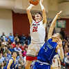 Dalton Jefferson goes up for a shot behind Angel Pacheco-Ortiz