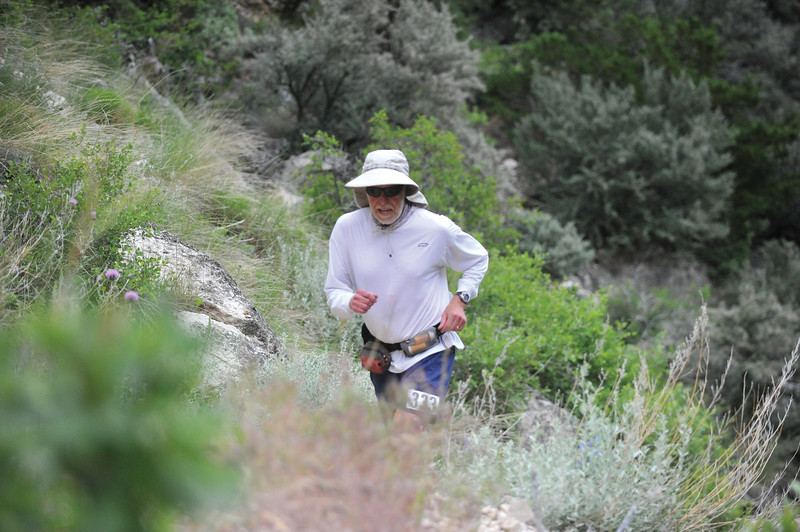 Bud Denega | The Sheridan Press<br /> Matthew Watts runs during the Bighorn Trail Run Friday, June, 15, 2018.