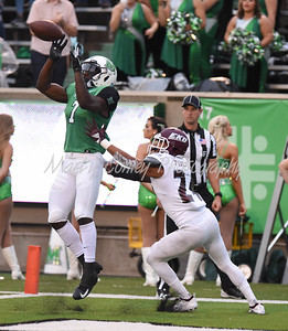 Marshall's Obi Obialo makes the reception for a touchdown on Saturday against EKU.  MARTY CONLEY/ FOR THE DAILY INDEPENDENT