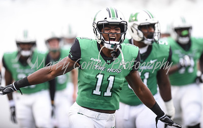 Marshall's Taymon Cooke takes the field on Saturday against EKU.  MARTY CONLEY/ FOR THE DAILY INDEPENDENT