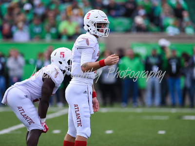 Florida Atlantic quarterback, Chris Robison sets up the offense on Saturday against Marshall.  MARTY CONLEY/ FOR THE DAILY INDEPENDENT