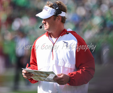 Florida Atlantic head coach, Lane Kiffin walks the sideline on Saturday against Marshall.  MARTY CONLEY/ FOR THE DAILY INDEPENDENT