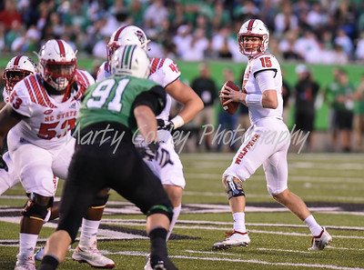 North Carolina State quarterback, Ryan Finley looks for an open receiver on Saturday against Marshall.  MARTY CONLEY/ FOR THE DAILY INDEPENDENT