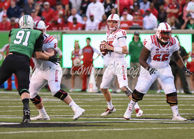 North Carolina State quarterback, Ryan Finley sets to throw the ball on Saturday against Marshall.  MARTY CONLEY/ FOR THE DAILY INDEPENDENT