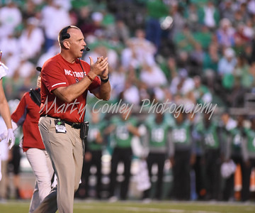 North Carolina State head coach, Dave Doeren claps for his team on Saturday against Marshall.  MARTY CONLEY/ FOR THE DAILY INDEPENDENT
