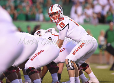 North Carolina State quarterback, Ryan Finley calls the offense on Saturday against Marshall.  MARTY CONLEY/ FOR THE DAILY INDEPENDENT