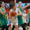 12-1-18<br /> Maconaquah vs Eastern girls basketball<br /> Mac's Josie Pyke looks for a pass.<br /> Kelly Lafferty Gerber | Kokomo Tribune