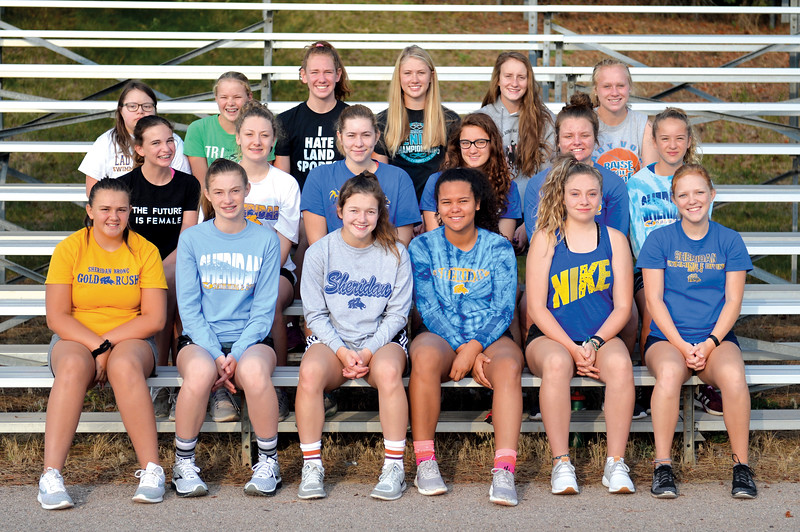 Bud Denega   The Sheridan Press<br /> The Sheridan High School girls swimming and diving team includes, front row, from left, Mariah Buchmun, Isabel Cleland, Camdyn Cook, Johnnie Zukowski, Claire Dube, Alicia Thoney; middle row, from left, Abbie Walton, Sydney Black, Sidney Wilson, Francesca Bonelli, Taylor Baldacci, Maggie Moseley; and top row, from left, Laruin Duca, Dana Weatherby, Jadyn Mullikin, Piper Carroll, Zoe Robison, Libby Green.