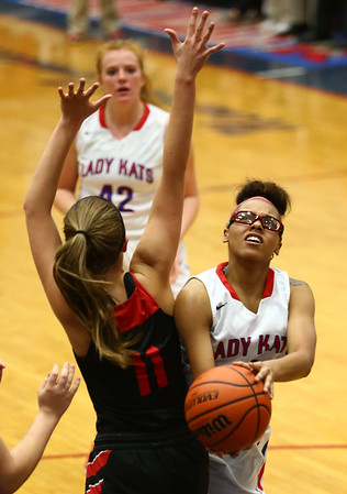 1-16-18<br /> Kokomo vs Logansport girls basketball<br /> Tevin Deckard looks to the basket.<br /> Kelly Lafferty Gerber | Kokomo Tribune