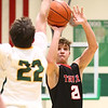 1-30-18<br /> Eastern vs Taylor boys basketball<br /> Taylor's Wynn Takacs shoots.<br /> Kelly Lafferty Gerber | Kokomo Tribune