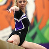 1-20-18<br /> Northwestern-Western gymnastics<br /> NW's Ashtyn Gross on the beam.<br /> Kelly Lafferty Gerber | Kokomo Tribune