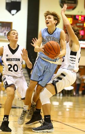 1-19-18<br /> Western vs Maconaquah boys basketball<br /> <br /> Kelly Lafferty Gerber | Kokomo Tribune
