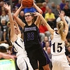 1-10-18<br /> Northwestern vs Oak Hill girls basketball<br /> Madison Layden throws a pass.<br /> Kelly Lafferty Gerber | Kokomo Tribune