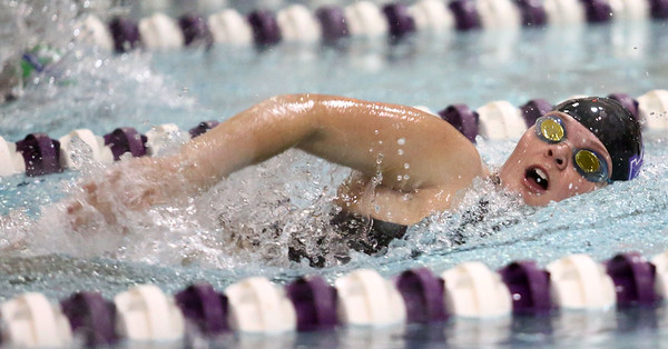 1-9-18<br /> Northwestern vs Eastern swimming<br /> NW's Kayla Campbell in the girls 50 freestyle.<br /> Kelly Lafferty Gerber | Kokomo Tribune