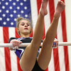 1-20-18<br /> Northwestern-Western gymnastics<br /> NW's Mollie Habig on the bars.<br /> Kelly Lafferty Gerber | Kokomo Tribune