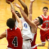 1-16-18<br /> Kokomo vs Logansport boys basketball<br /> Jeremy Baker gets fouled as he goes up for a shot.<br /> Kelly Lafferty Gerber | Kokomo Tribune