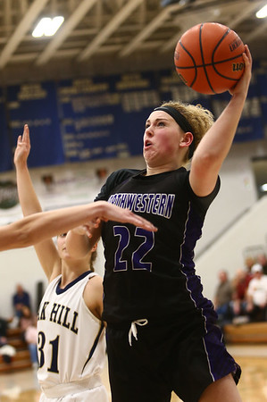 1-10-18<br /> Northwestern vs Oak Hill girls basketball<br /> Taylor Boruff shoots.<br /> Kelly Lafferty Gerber | Kokomo Tribune
