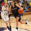 1-10-18<br /> Northwestern vs Oak Hill girls basketball<br /> Madison Layden dribbles down the court.<br /> Kelly Lafferty Gerber | Kokomo Tribune
