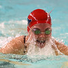 1-11-18<br /> Kokomo swimming<br /> Haley Salinas in the girls 200 medley relay.<br /> Kelly Lafferty Gerber | Kokomo Tribune