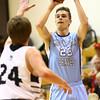 1-19-18<br /> Western vs Maconaquah boys basketball<br /> Bryce Ward shoots.<br /> Kelly Lafferty Gerber | Kokomo Tribune