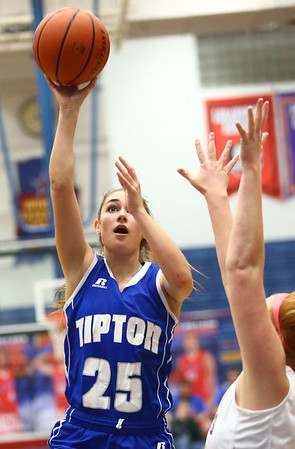 1-25-18<br /> Kokomo vs Tipton girls basketball<br /> Tipton's Rachael Ressler shoots.<br /> Kelly Lafferty Gerber | Kokomo Tribune