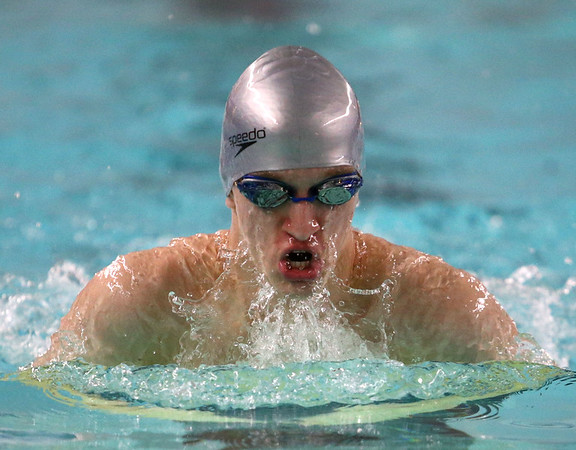 1-11-18<br /> Kokomo swimming<br /> Jack Stevens in the boys 200 medley relay.<br /> Kelly Lafferty Gerber | Kokomo Tribune