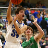 1-5-18<br /> Tipton vs Yorktown boys basketball<br /> Tipton's Trent Seward makes a pass.<br /> Kelly Lafferty Gerber | Kokomo Tribune