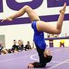 1-20-18<br /> Northwestern-Western gymnastics<br /> Western's Katie Devine on the floor.<br /> Kelly Lafferty Gerber | Kokomo Tribune