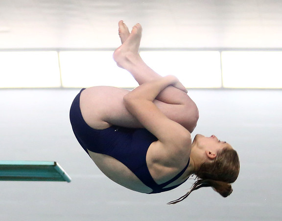 1-11-18<br /> Kokomo swimming<br /> Liesl Elkin in diving.<br /> Kelly Lafferty Gerber | Kokomo Tribune