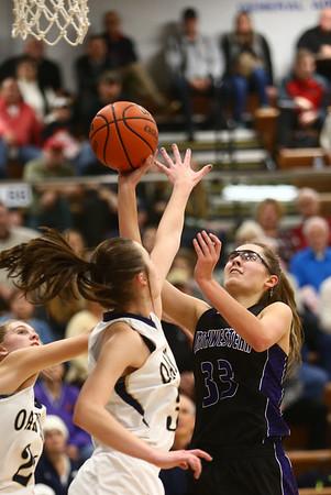 1-10-18<br /> Northwestern vs Oak Hill girls basketball<br /> Madison Layden shoots.<br /> Kelly Lafferty Gerber   Kokomo Tribune