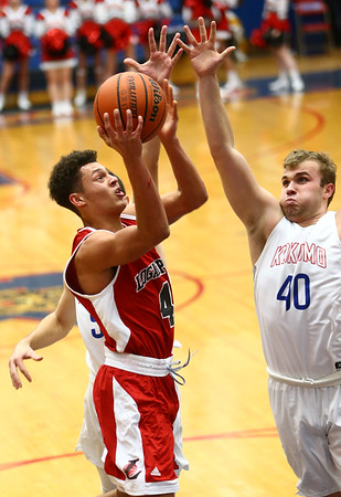 1-16-18<br /> Kokomo vs Logansport boys basketball<br /> Logan's Elijah Crowe shoots.<br /> Kelly Lafferty Gerber | Kokomo Tribune