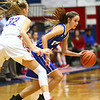 1-25-18<br /> Kokomo vs Tipton girls basketball<br /> Cassidy Crawford dribbles down the court.<br /> Kelly Lafferty Gerber | Kokomo Tribune