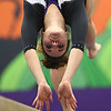 1-20-18<br /> Northwestern-Western gymnastics<br /> NW's Catelyn Wilson on the beam.<br /> Kelly Lafferty Gerber | Kokomo Tribune