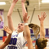 1-2-18<br /> Northwestern vs Eastern girls basketball<br /> NW's Stephanie Burns shoots.<br /> Kelly Lafferty Gerber | Kokomo Tribune