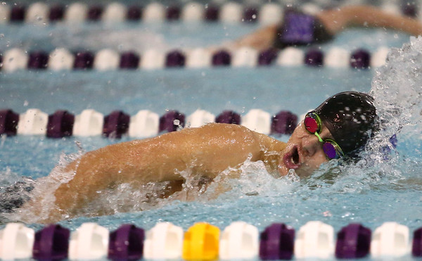 1-9-18<br /> Northwestern vs Eastern swimming<br /> NW's Michael Bolyard in the boys 200 IM.<br /> Kelly Lafferty Gerber | Kokomo Tribune