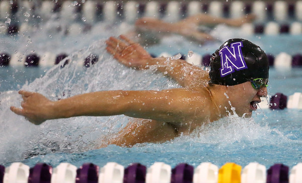 1-9-18<br /> Northwestern vs Eastern swimming<br /> NW's Michael Bolyard in the boys 200 IM.<br /> Kelly Lafferty Gerber | Kokomo Tribune